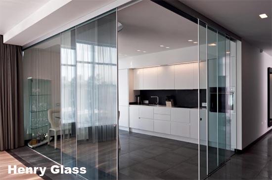 Pareti Di Vetro Scorrevoli : Parete in vetro con porta scorrevole porte scorrevoli a scomparsa